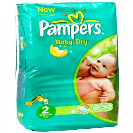 35 Couches Pampers Baby Dry Taille 2 En Promotion Sur Choupinet