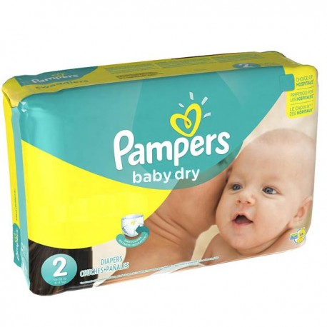 420 Couches Pampers Baby Dry Taille 2 à Bas Prix Sur Choupinet