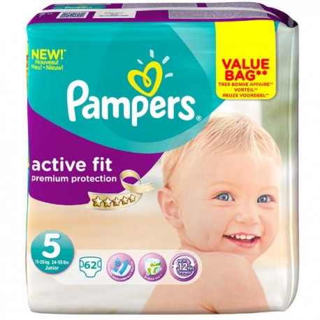 62 Couches Pampers Active Fit Taille 5 Moins Cher Sur Choupinet