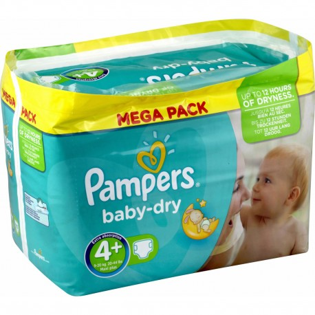 210 Couches Pampers Baby Dry Taille 4 En Solde Sur Choupinet
