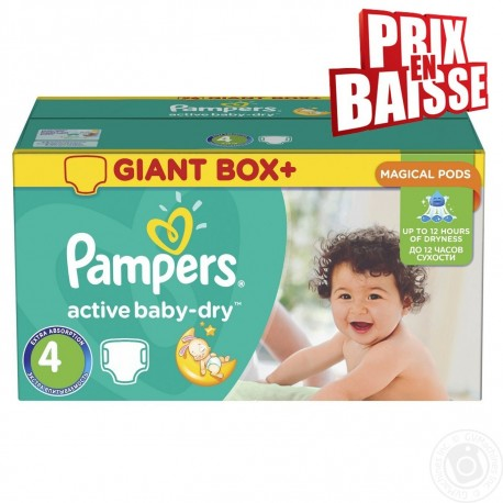 308 Couches Pampers Active Baby Dry Taille 4 A Bas Prix Sur Choupinet