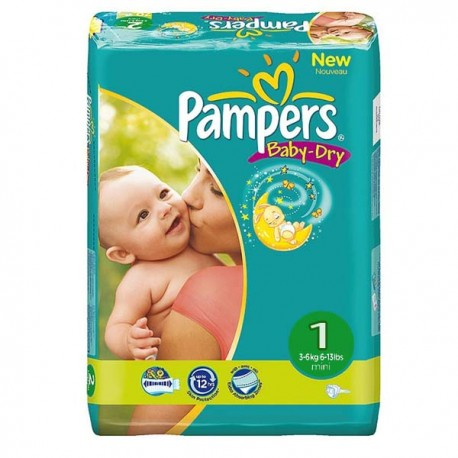 43 Couches Pampers New Baby Dry Taille 1 à Petit Prix Sur Choupinet