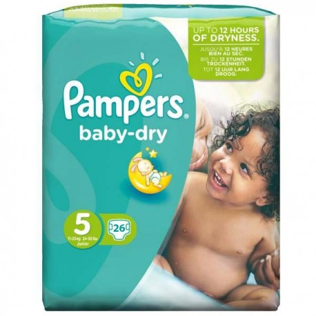 26 Couches Pampers Baby Dry Taille 5 Pas Cher Sur Choupinet